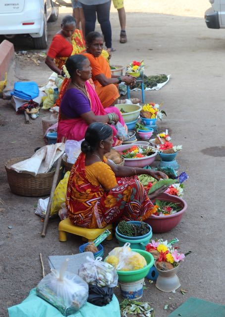 Selling produce, India