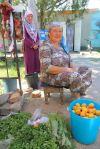 Selling fruit, Mongolia