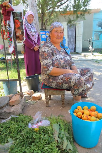 Selling fruit, Mongolia