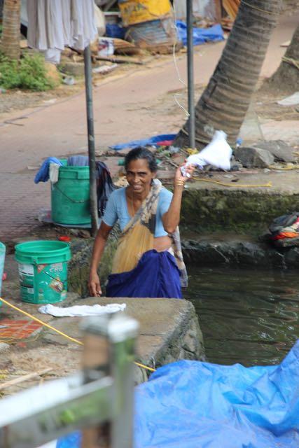 Doing laundry, India