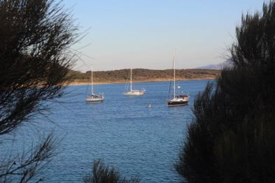 Yachts at Trousers Point, Flinders Island