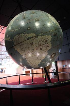 South America on Coronelli's globe