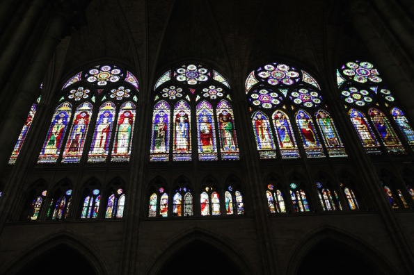 Glazed triforium, Saint-Denis