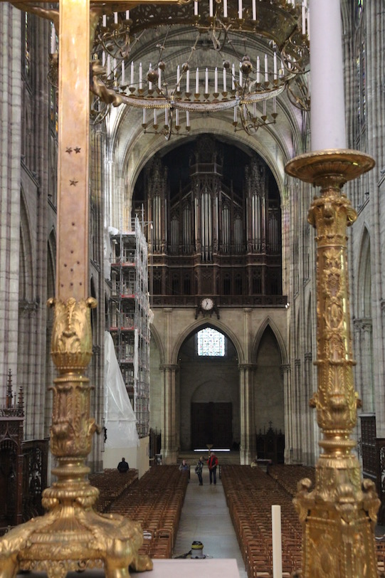 View to organ, Saint-Denis