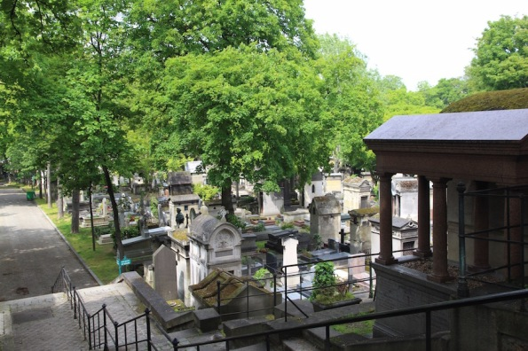 Montmartre Cemetery view to lower level
