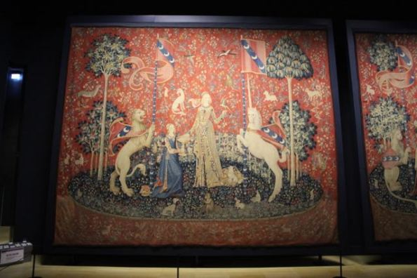 The Lady and the Unicorn Taste tapestry