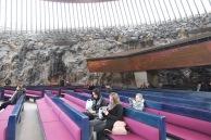 Rock Church, Helsinki, pews with gallery