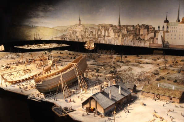 Model of the Vasa being built