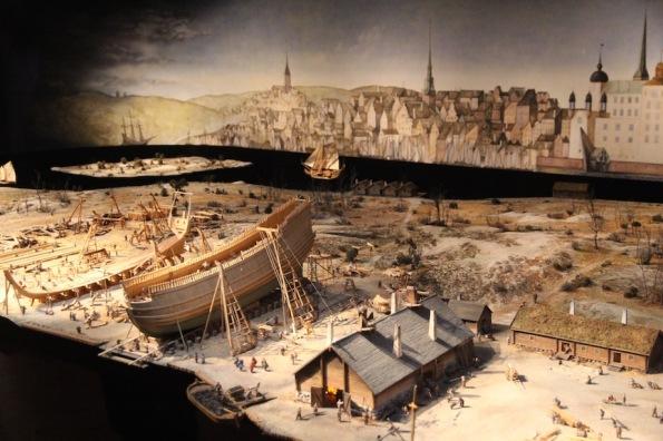 Model of the Vasa being built