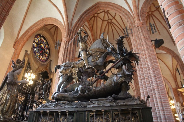 Stockholm Cathedral, St George and the Dragon
