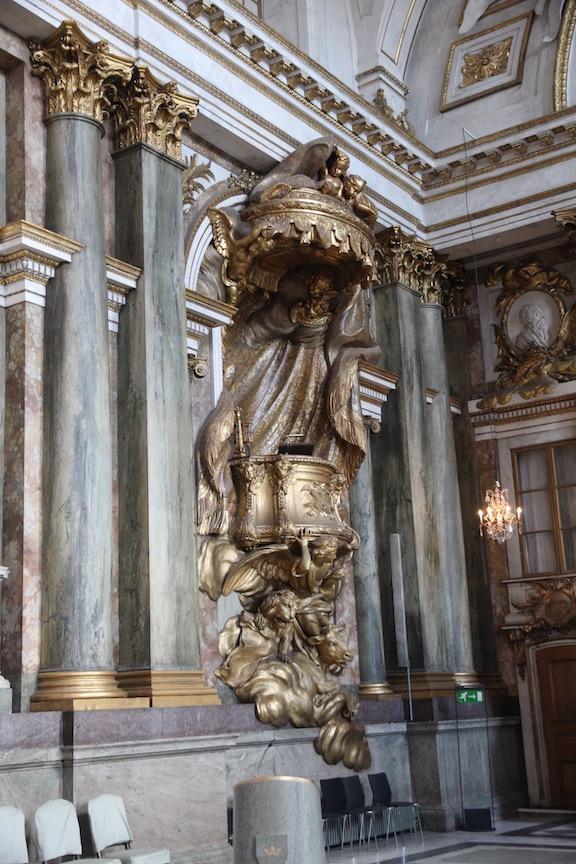 Stockholm Royal Palace, chapel pulpit