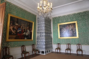 Rundāle Palace, room in green