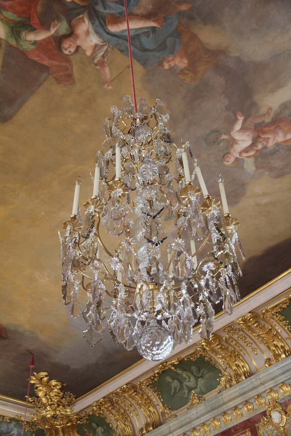 Rundāle Palace, Throne Room chandelier
