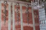 Rundāle Palace, Rose Room stucco roses on wall