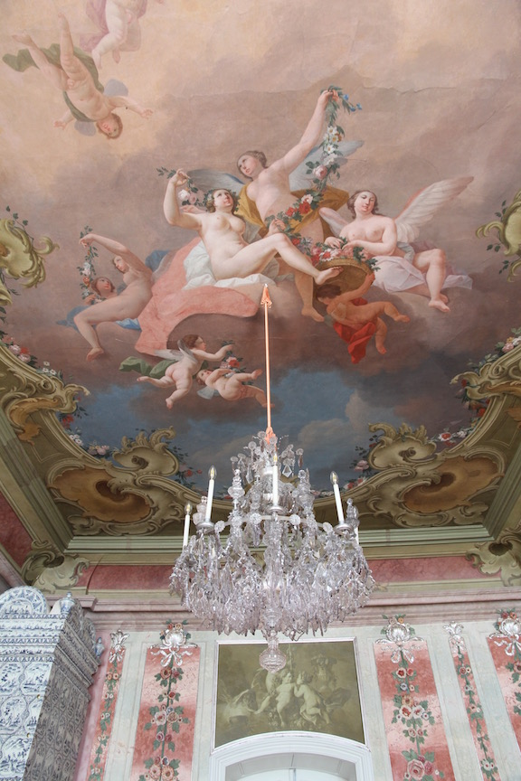 Rundāle Palace, Rose Room Ceiling