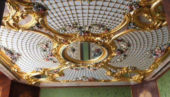 Rundāle Palace, Duchess' bathroom ceiling