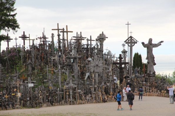 Entering the Hill of Crosses
