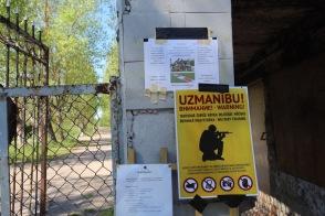 Skrunda-1, Latvia, warning signs