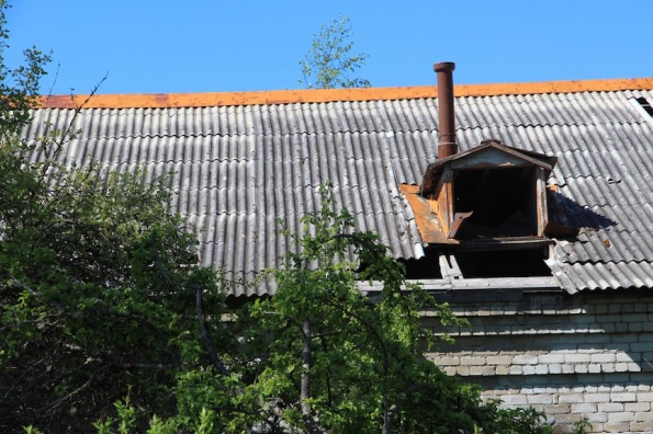 Skrunda-1, Latvia, old roof
