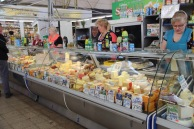 Riga market, cheese