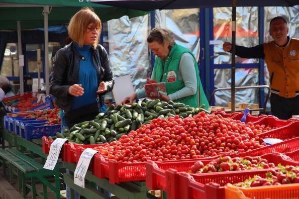 Riga market, outdoor stall