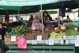 Riga market, outdoor produce