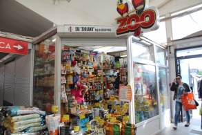 Riga market, pet store