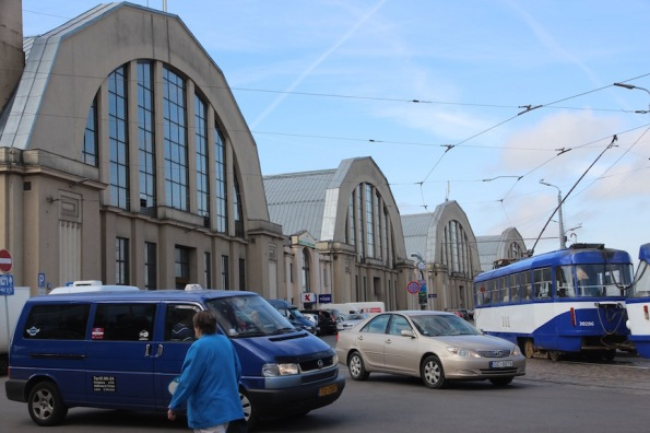 Riga market, made of hangars