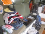 Storage seat of African truck