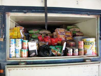 Food storage on truck