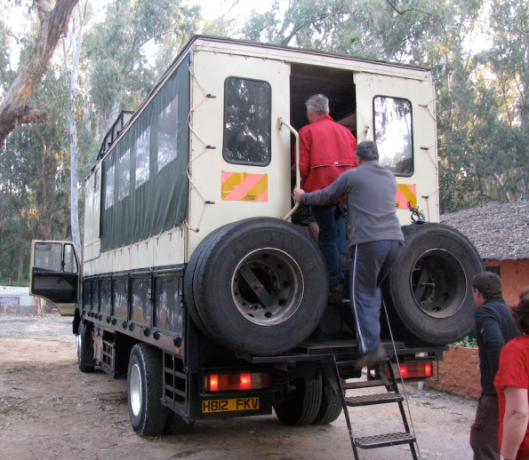 African overland truck