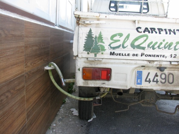 Chained truck