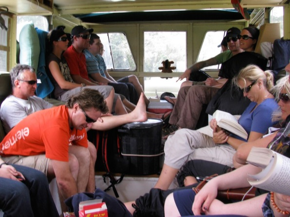 Inside truck