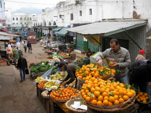 Market in Tetouan Morocco