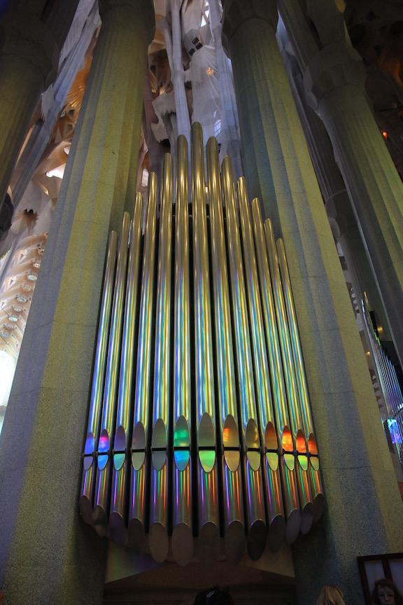 Sagrada Familia organ pipes