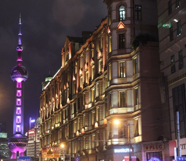 Oriental Pearl Tower and Swatch Art Peace Hotel