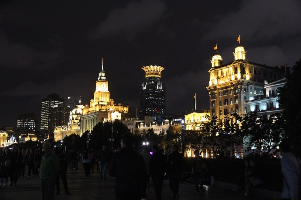 Night skyline the Bund, Shanghai