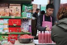 Selling pomegranate juice, China