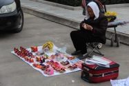 Selling souvenirs, China