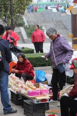 Selling fruit, China
