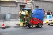 Street sweeping, China
