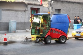Street sweeping, China