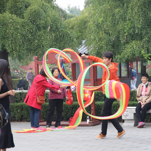 Twirling ribbons, China