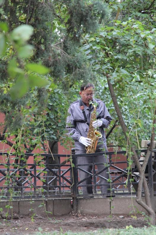 Playing the sax, China