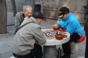 Playing go, China