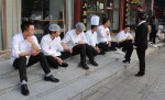 Chefs on a break in China