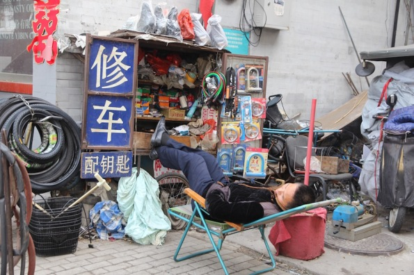 Catching a snooze, China