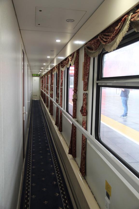 Trans Mongolian Railway aisle