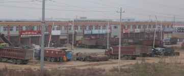 Chinese truck depot