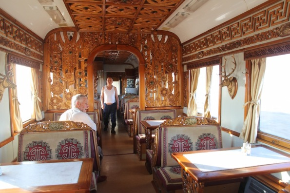 Trans Mongolian Railway dining car
